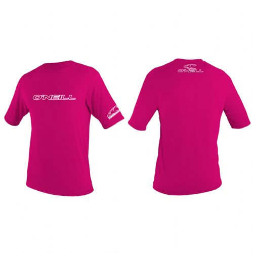 O'NEILL GIRLS RASH T SHIRT.SKINS UPF50+ SUN PROTECTION PINK VEST TOP 7S/3422/182